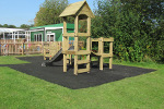 The play unit is in Redhill and shows the use of safagrass mats